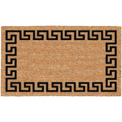 Americo Home Greek Key 18 In. x 30 In. Coir/Vinyl Door Mat
