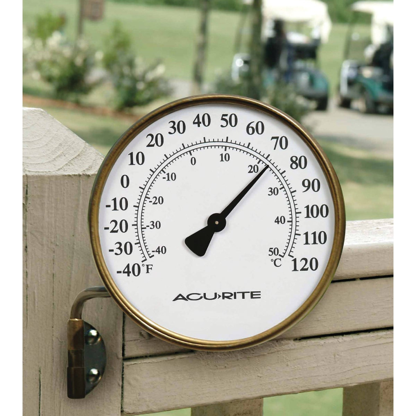 Acurite 4 In. Dia. Metal Dial Indoor & Outdoor Thermometer Image 1