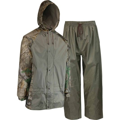 West Chester XL 2-Piece RealTree Camo Polyester Rain Suit