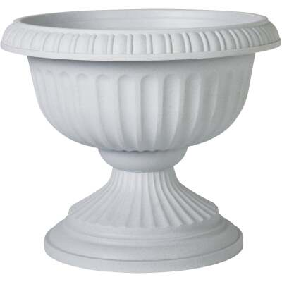 Novelty 18 In. W. x 14.5 In. H. x 18 In. L. Poly Stone Urn
