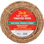 Do it 1/4 In. x 100 Ft. Natural Twisted Manila Fiber Packaged Rope Image 1