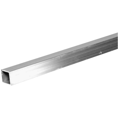 HILLMAN Steelworks 3/4 In. x 4 Ft. Aluminum Square Tube Stock