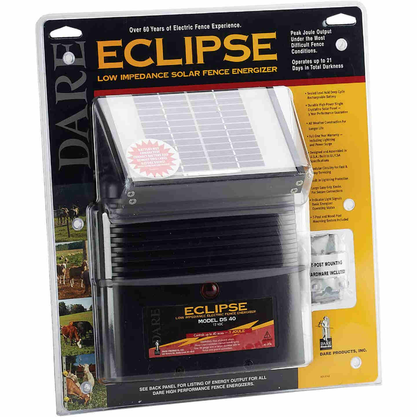 Dare Eclipse 40-Acre Electric Fence Charger Image 2
