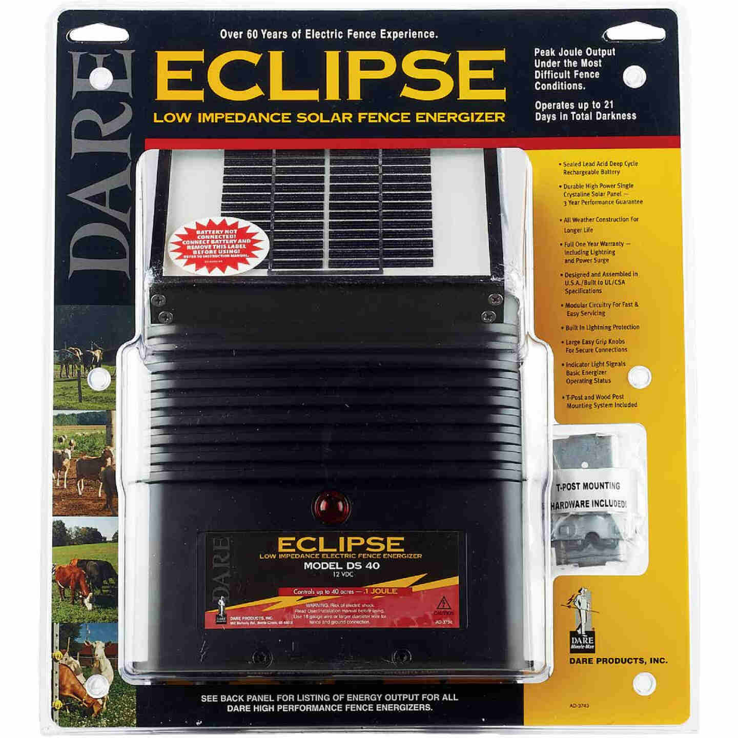 Dare Eclipse 40-Acre Electric Fence Charger Image 3
