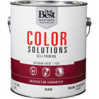 Do it Best Color Solutions Latex Self-Priming Flat Interior Wall Paint, Black, 1 Gal. Image 1
