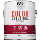 Do it Best Color Solutions Latex Self-Priming Flat Interior Wall Paint, Black, 1 Gal. Image 2