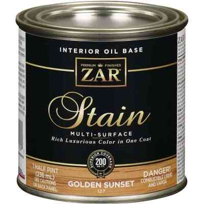 ZAR Oil-Based Wood Stain, Golden Sunset, 1/2 Pt.