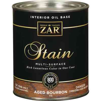 ZAR Oil-Based Wood Stain, Aged Bourbon, 1 Qt.