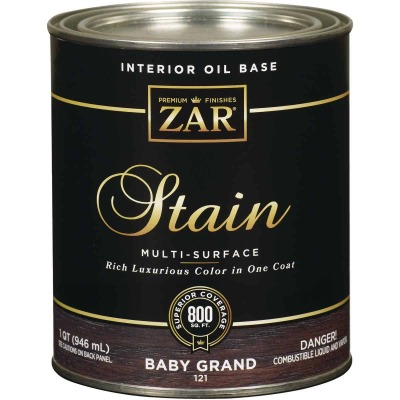 ZAR Oil-Based Wood Stain, Baby Grand, 1 Qt.