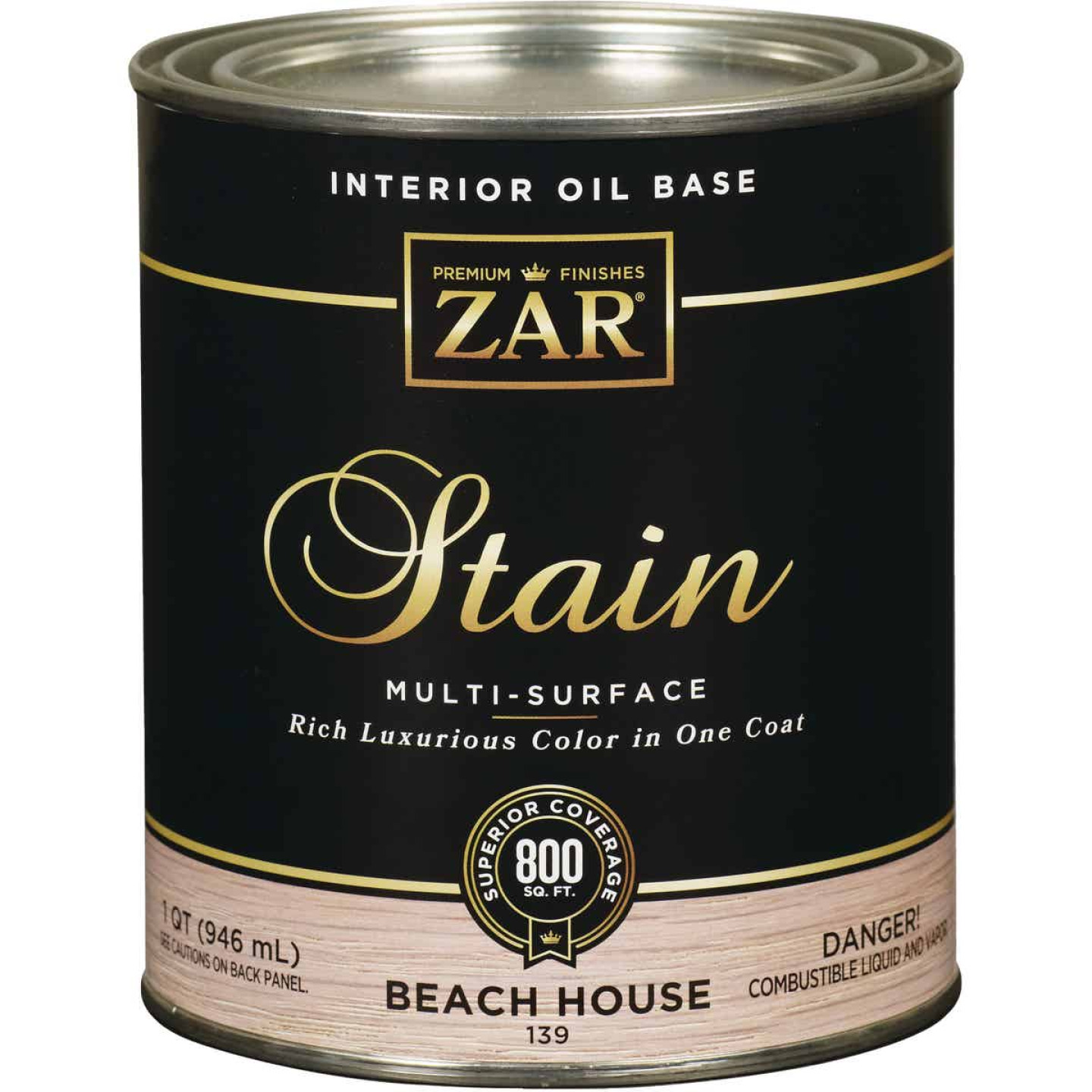 ZAR Oil-Based Wood Stain, Beach House, 1 Qt. Image 1