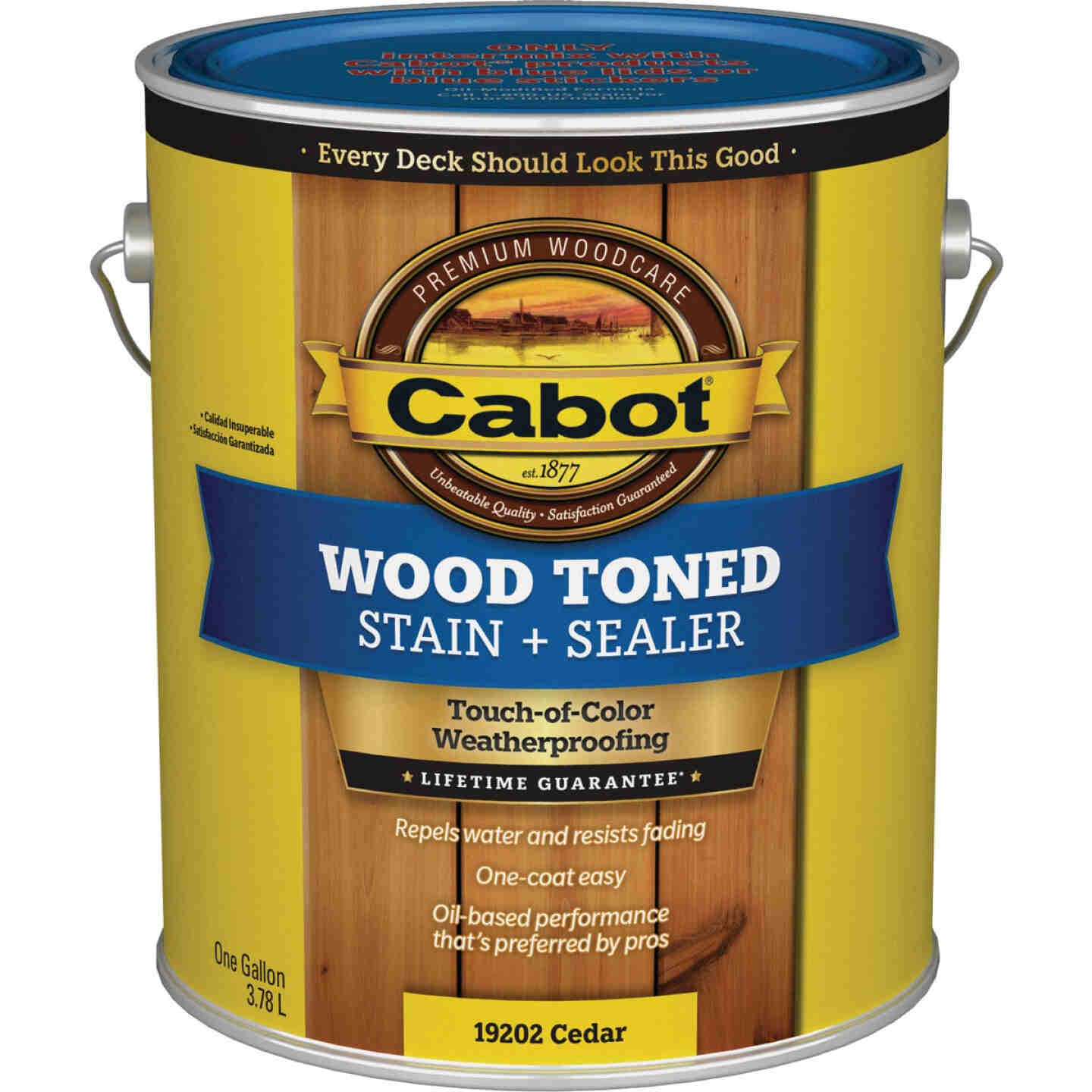 Cabot VOC Wood Toned Deck & Siding Exterior Stain, Cedar, 1 Gal. Image 1