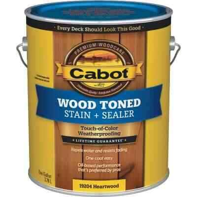 Cabot VOC Wood Toned Deck & Siding Exterior Stain, Heartwood, 1 Gal.