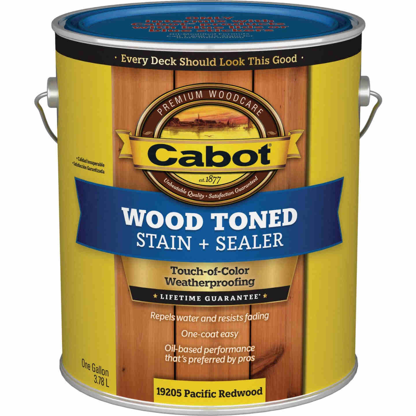 Cabot VOC Wood Toned Deck & Siding Exterior Stain, Pacific Redwood, 1 Gal. Image 1