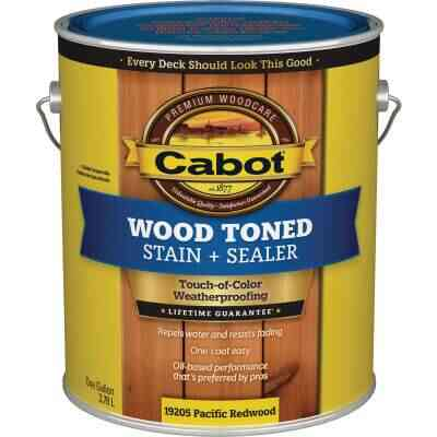 Cabot VOC Wood Toned Deck & Siding Exterior Stain, Pacific Redwood, 1 Gal.