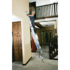 Werner 16 Ft. Compact Aluminum Extension Ladder with 225 Lb. Load Capacity Type II Duty Rating Image 2