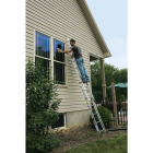 Werner 16 Ft. Compact Aluminum Extension Ladder with 225 Lb. Load Capacity Type II Duty Rating Image 3