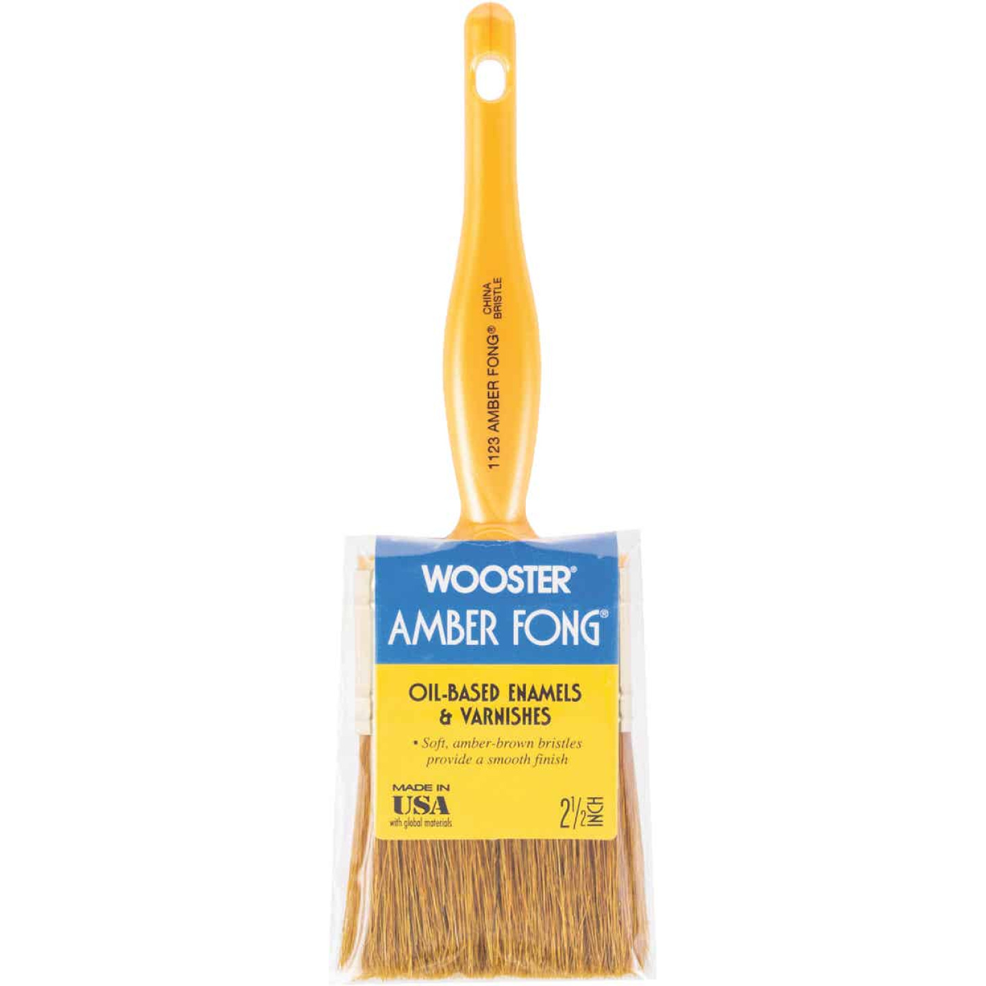 Wooster Amber Fong 2-1/2 In. Flat Paint Brush Image 1