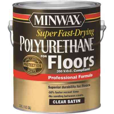Minwax 1 Gallon Satin VOC Fast Drying Polyurethane For Floor
