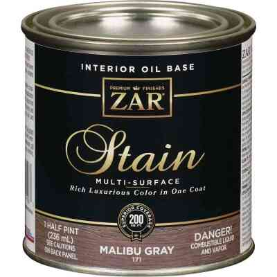 ZAR Oil-Based Wood Stain, Malibu Gray, 1/2 Pt.