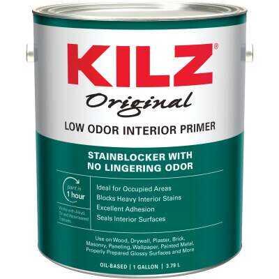 Kilz Original Low Odor Oil-Based Interior Primer Sealer Stainblocker, White, 1 Gal.