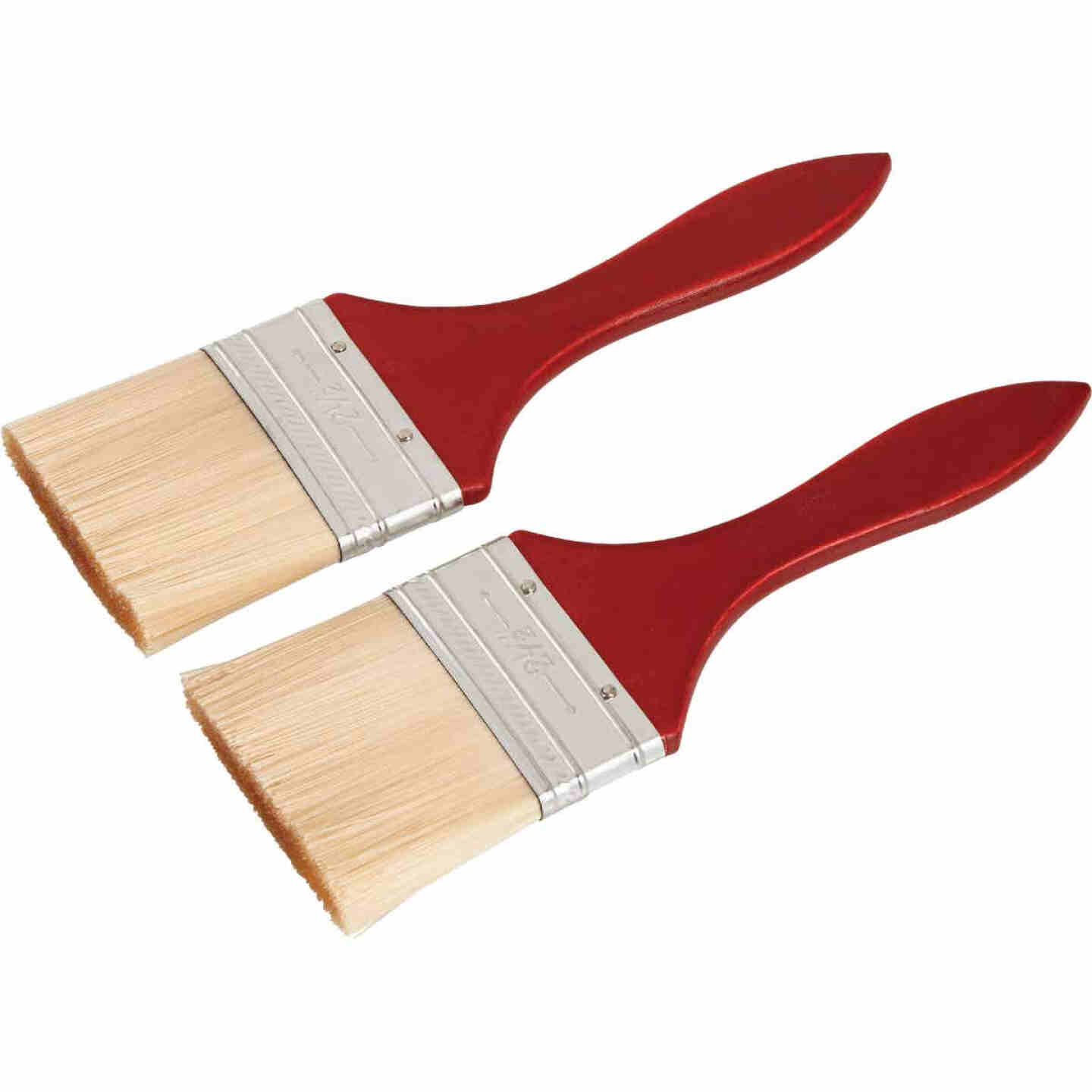 Smart Savers 2-1/2 In. Flat Trim Polyester Paint Brush Set (2-Pack) Image 2