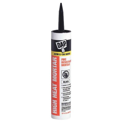 Dap 10.1 Oz. Black Fire Resistant Mortar Hi-Temp Sealant
