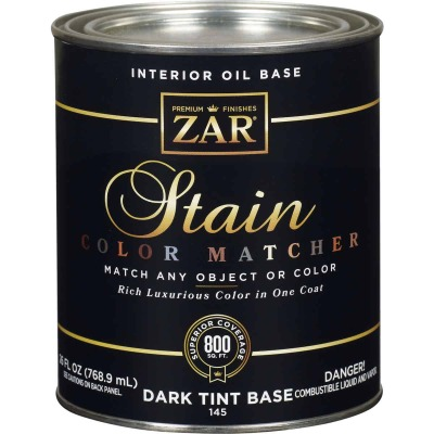 Zar 1 Qt. Color Matcher Dark Tint Base Oil-Based Multi-Surface Interior Stain