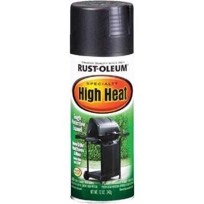 Rust-Oleum Black Satin 12 Oz. High Heat Spray Paint