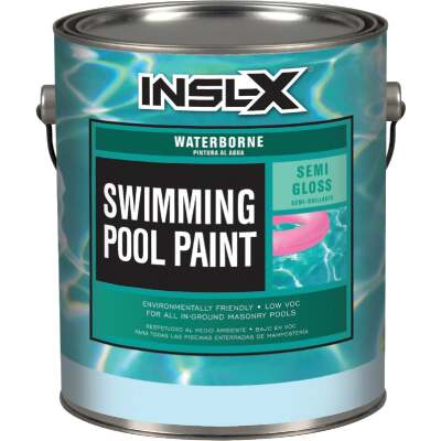 Insl-X 1 Gal. White Semi-Gloss Waterborne Pool Paint