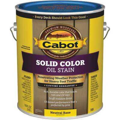 Cabot VOC Solid Color Oil Deck Stain, Neutral Base, 1 Gal.