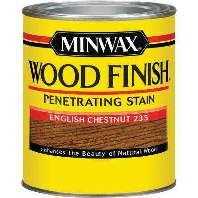 Minwax Wood Finish Penetrating Stain, English Chestnut, 1/2 Pt.