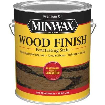 Minwax Wood Finish Penetrating Stain, Ebony, 1 Gal.