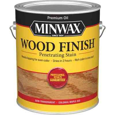 Minwax Wood Finish Penetrating Stain, Colonial Maple, 1 Gal.