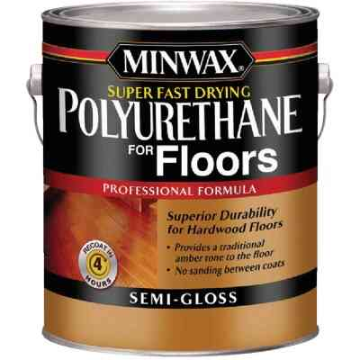 Minwax Semi-Gloss Super Fast-Drying Polyurethane For Floors, 1 Gal.