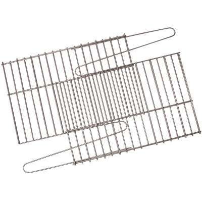 GrillPro 17 In. to 25 In. W. x 11 In. to 14 In. D. Porcelain-Coated Steel Universal Adjustable Rock Grill Grate