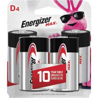 Energizer Max D Alkaline Battery (4-Pack)