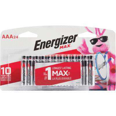 Energizer Max AAA Alkaline Battery (24-Pack)