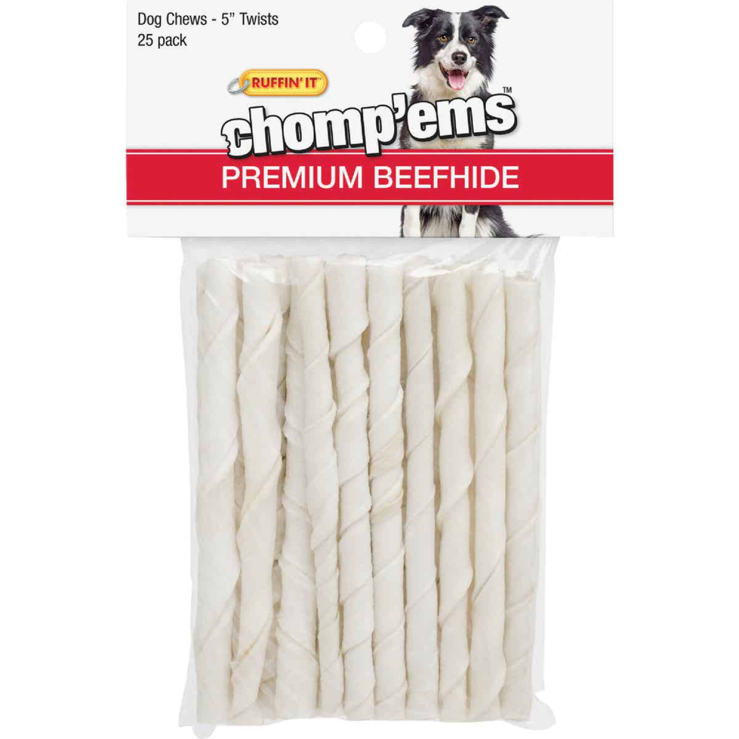 Westminster Pet Ruffin' it Chomp'ems 5 In. Beef Chew Roll (25-Pack) Image 1