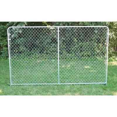 Fence Master Silver Series 10 Ft. W. x 6 Ft. H. Steel Kennel Panel
