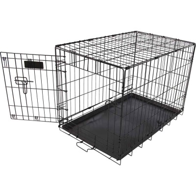 Petmate Aspen Pet 17 In. W. x 19.4 In. H. x 24.6 In. L. Heavy-Gauge Wire Indoor Training Dog Crate