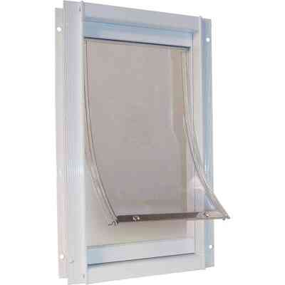 Ideal Pet 7 In. x 11-1/4 In. Medium Plastic White Pet Door