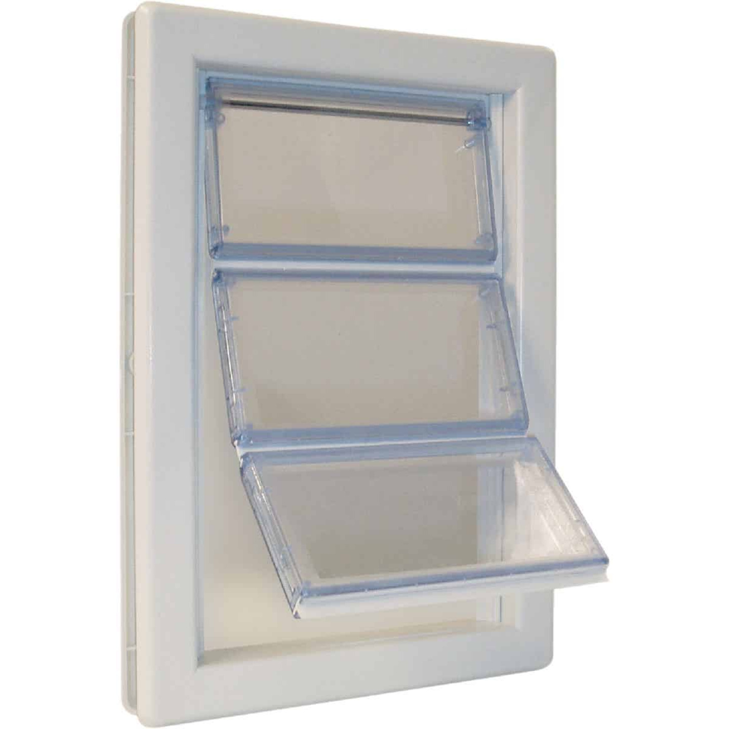 Ideal Airseal 10-1/4 In. x 15-3/4 In. Extra Large Plastic White Pet Door Image 1