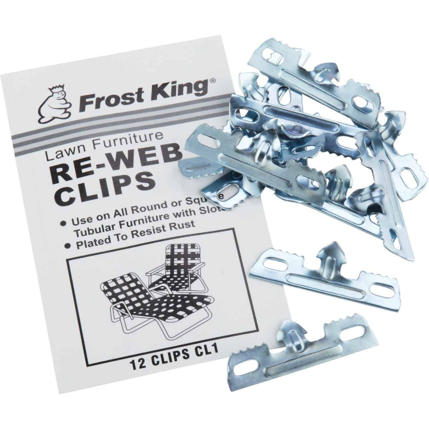 Frost King Plated Outdoor Chair Webbing Clips (12-Pack) Image 3