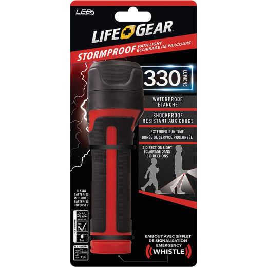 Life Gear Storm Proof 4AA 330 Lm. LED Flashlight & Path Light