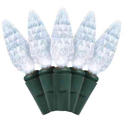 J Hofert Pure White 210-Bulb C6 LED Light Set