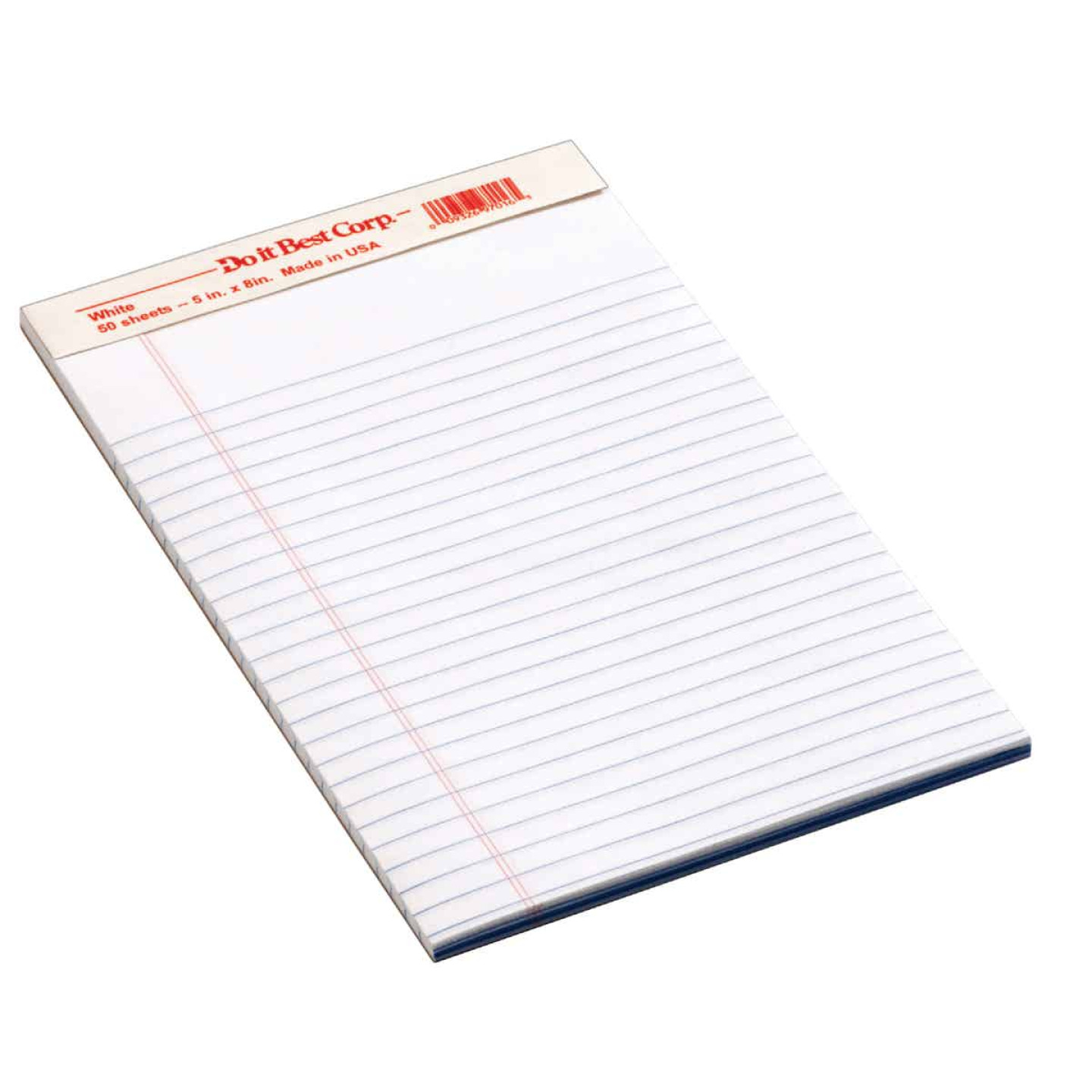 Staples 5 In. W. x 8 In. H. 50-Sheet White Top Bound Legal Pad (12-Pack) Image 1