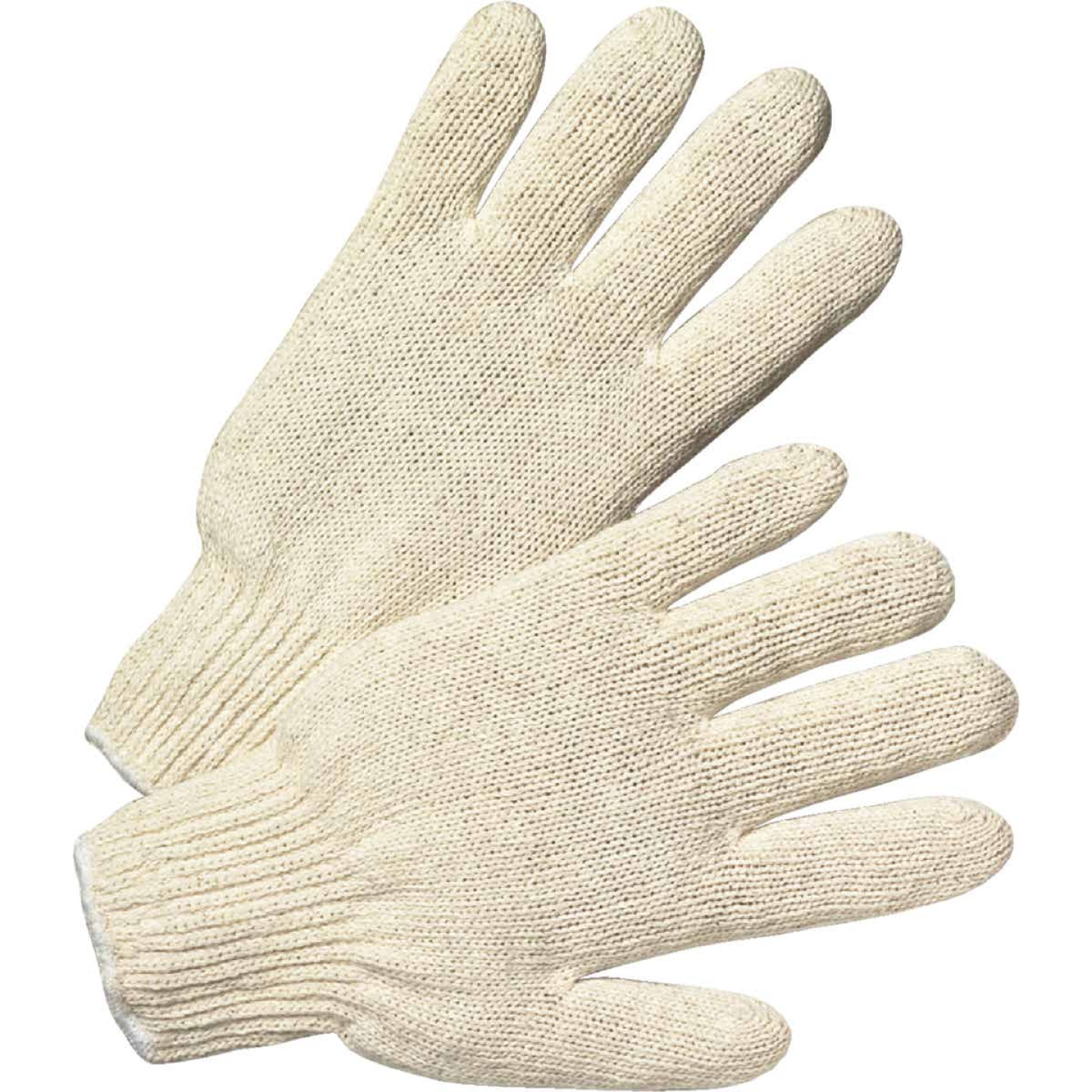 West Chester Protective Gear Men's Large Polyester Blend String Knit Work Glove, White (12-Pack) Image 1